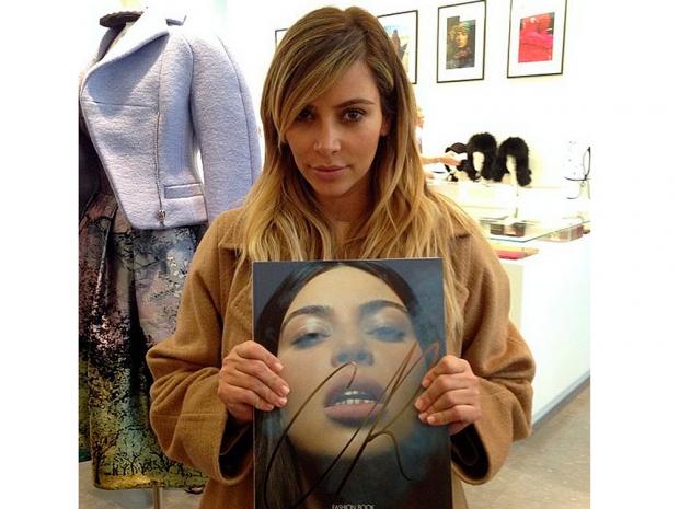 kim kardashian on cover of Carine Roitfeld's CR Fashion Book last year
