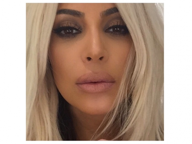 Kim kardashian over lines lips on instagram