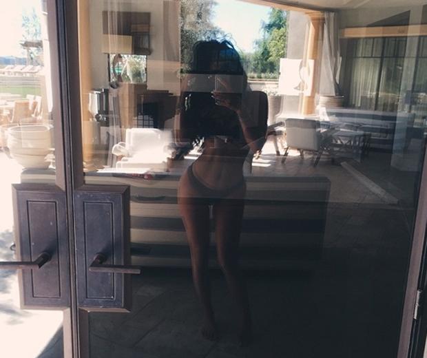 kylie jenner in bikini at scott disick house
