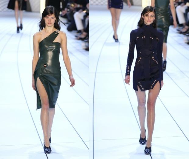 Models on the runway at Mugler A/W 15