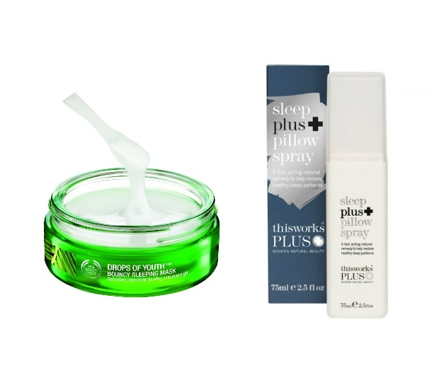 The Body Shop Drops of Youth Bouncy Sleeping Mask and This Works Sleep Plus+ Pil