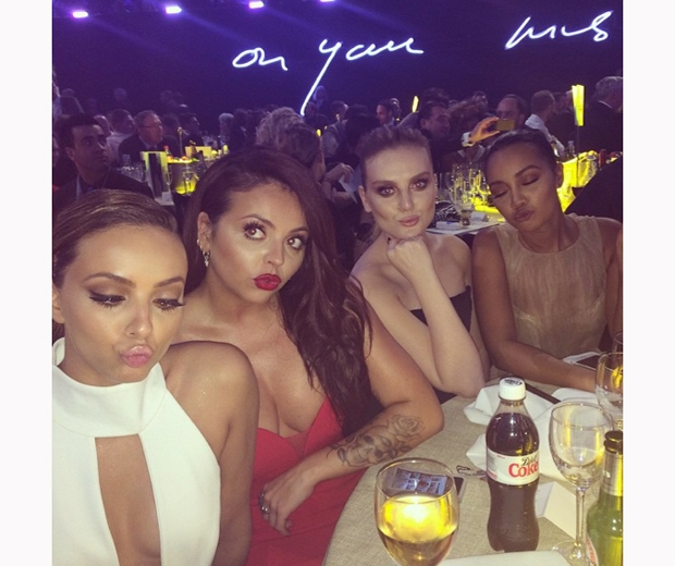 The Little Mix girls at a swanky dinner event earlier this month