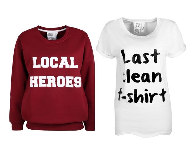 Sweatshirt £35, Tee £24