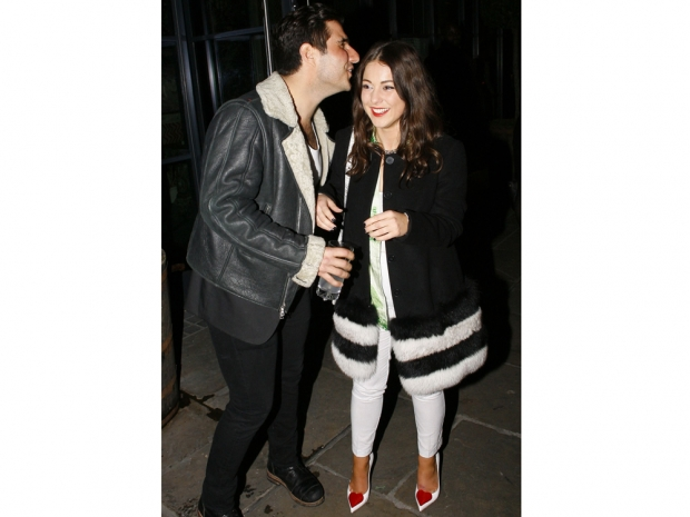 louise thompson at the Shopa event with co-star boyfriend Alik Alfus