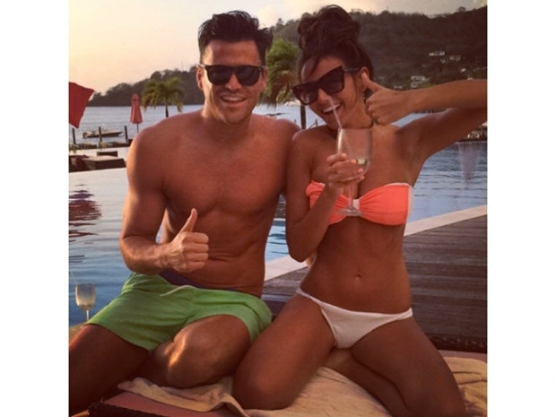 michelle keegan in bikini on holiday with Mark Wright