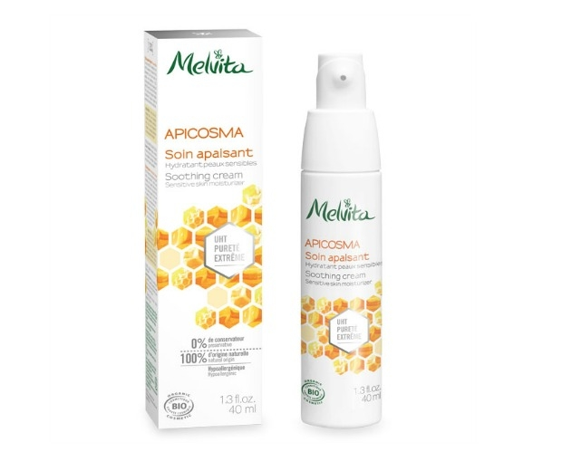 Melvita's Apicosma UHT Soothing Cream is 100% natural and smells like honey