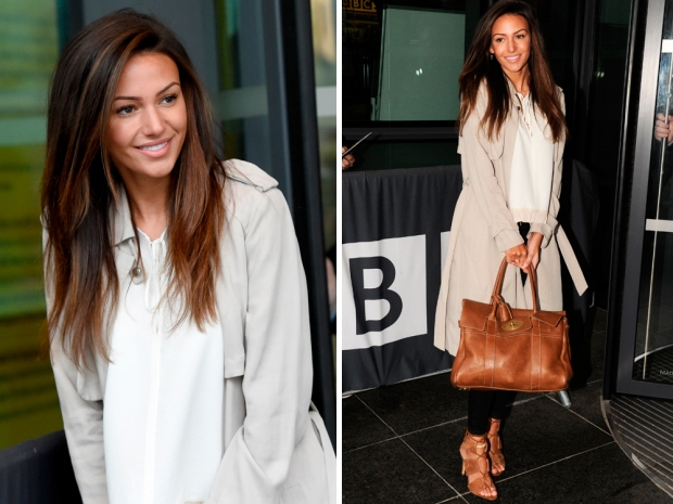 Michelle Keegan showing off her gorgeous post-Caribbean glow in Manchester over