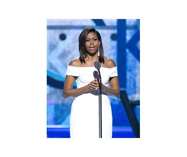 Michelle Obama wearing Zac Posen at Black Girls Rock! event