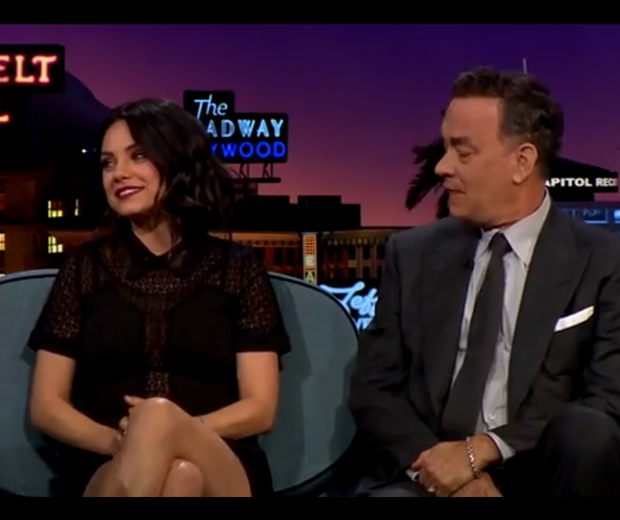 mila kunis on the Late Late Show with James Corden