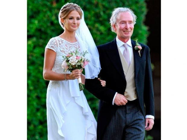 millie mackintosh with her dad on her wedding day