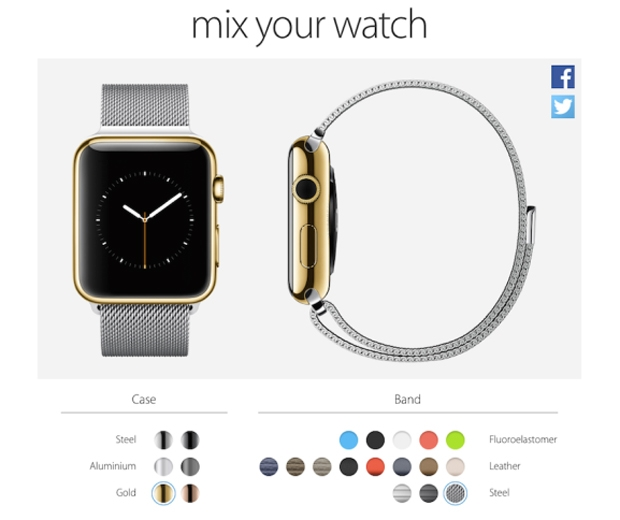 Customise your Apple watch with mix your watch, photo c/o mix your watch