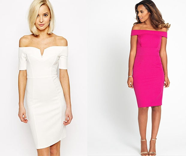 High street off shoulder dresses