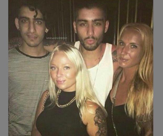 Zayn Malik with Swedish club promoter Martina Olsson
