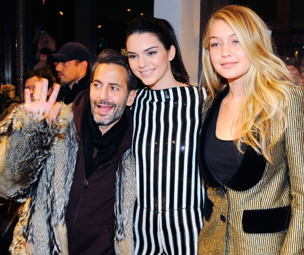 Marc With Model Friends Models Kendall And Gigi.