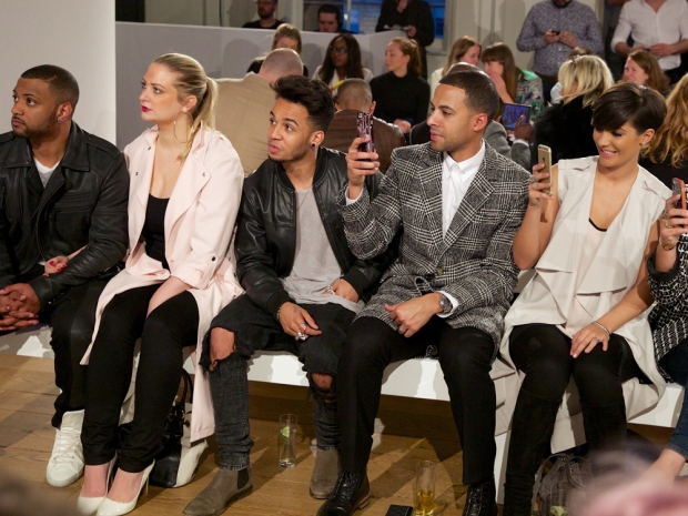jls and frankie bridge on the Frow of rochelle humes very ss15