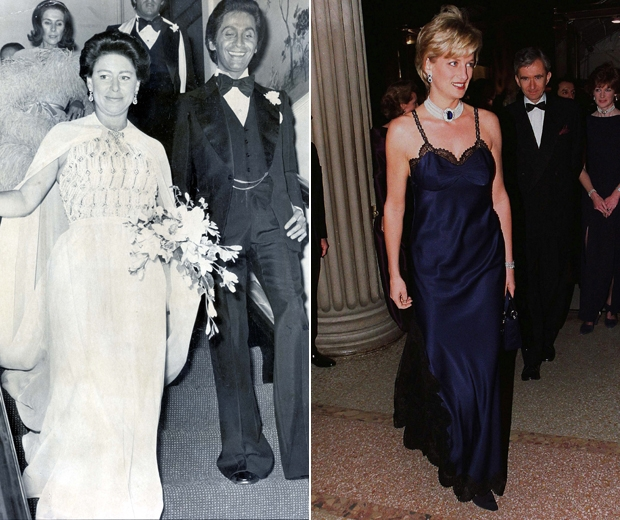 Princess Margaret and Lady Diana