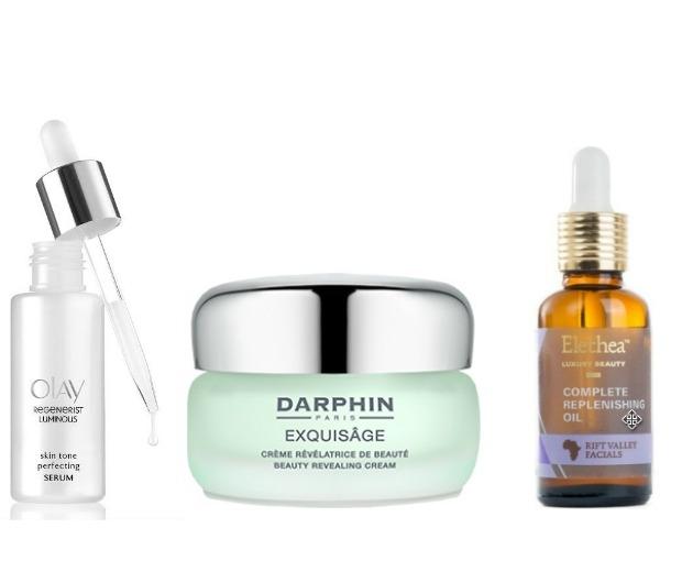 Serum, moisturiser, oil