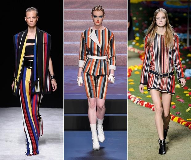 ss15 stripes on catwalks