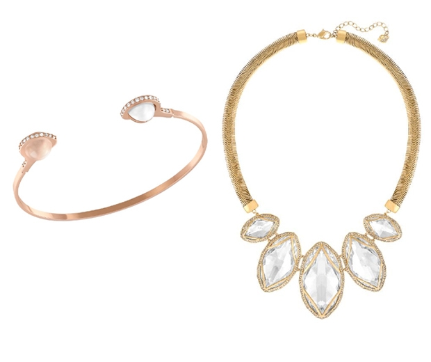 (l-r) Bangle, £59, Large Necklace, £249