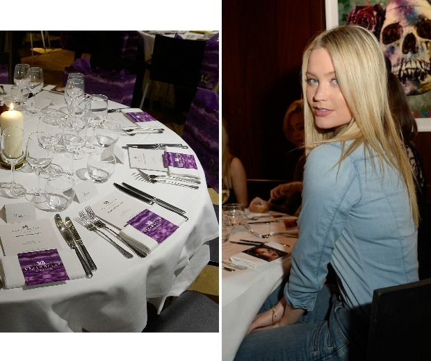 The table display and Laura Whitmore posing