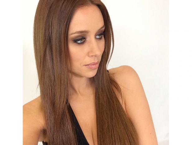 una foden with new brown hair