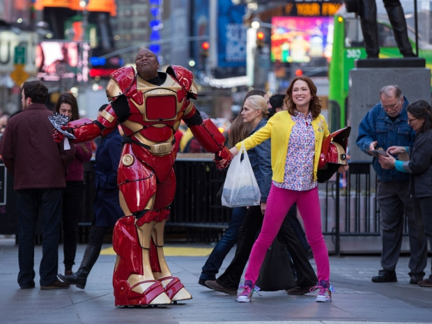 Robot suits are the new big thing in New York fashion, don'tchaknow