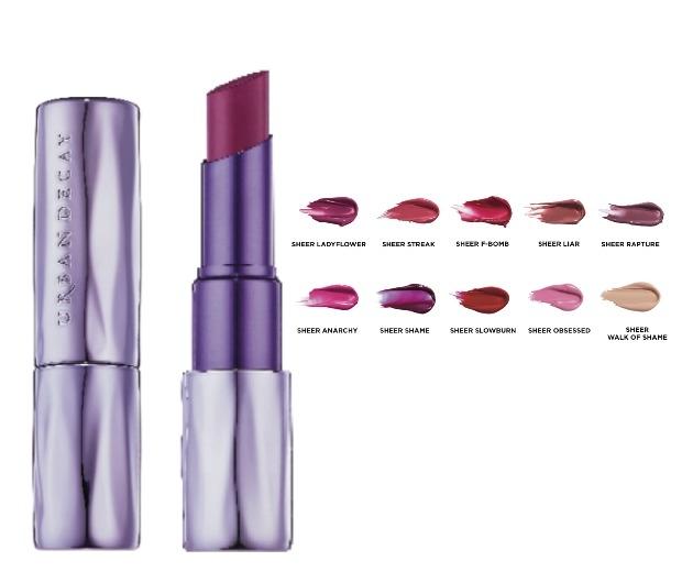 Urban Decay Sheer Revolution Lipsticks, £15.50