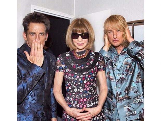 Backstage with Anna Wintour, Derek Zoolander and Hansel at the Valentino SS15 sh