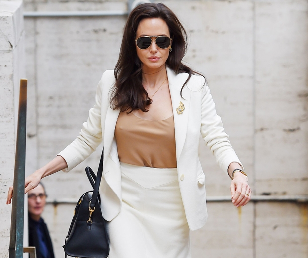 angelina jolie in white suit