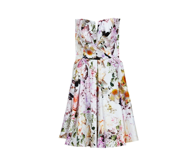 Asos Notch Bandeau Floral Dress, £60