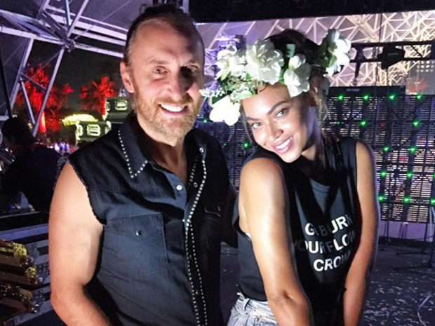 Beyoncé and David Guetta at Coachella