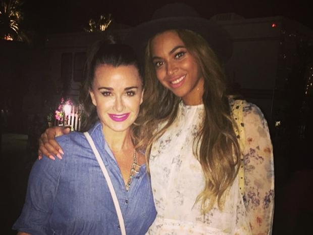 Beyoncé and Kyle Richards at Coachelle