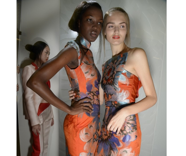Models skin at Antonio Berardi looks airbrushed
