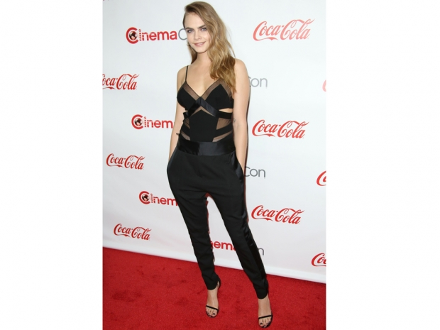 Cara Delevingne wearing Alexandre Vauthier at the CinemaCon Big Screen Achieveme