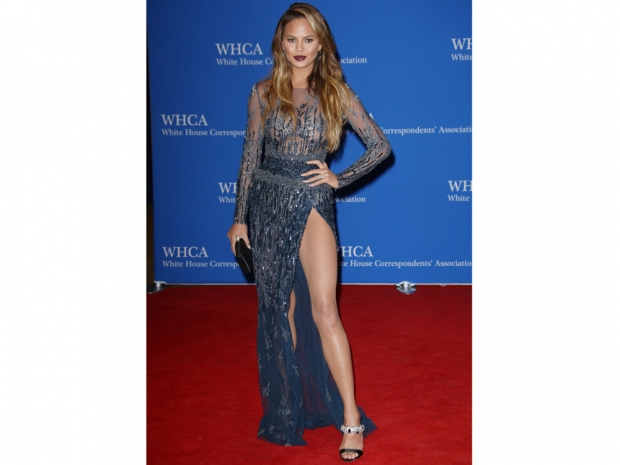 Chrissy Teigen at the White House Correspondents' Ball