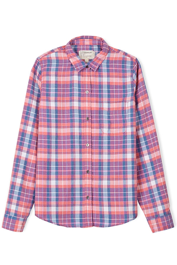 Slim Boy Shirt in Stardust Plaid by Current/Elliott