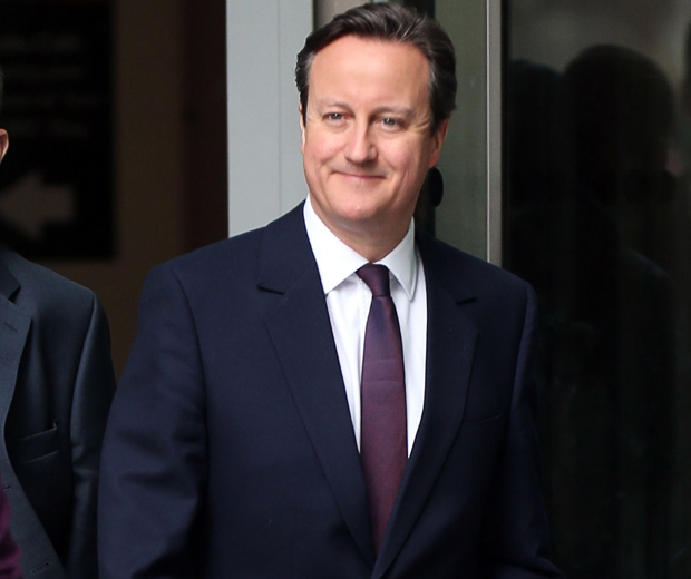 prime minister david cameron in a suit and tie
