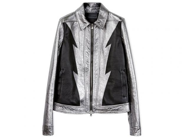 Diesel Black Gold Lasilver Leather Biker Jacket