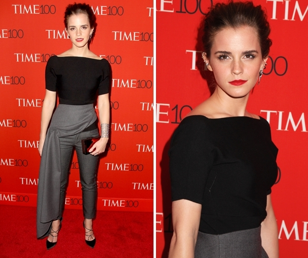 emma watson in skirt trousers at time 100 gala