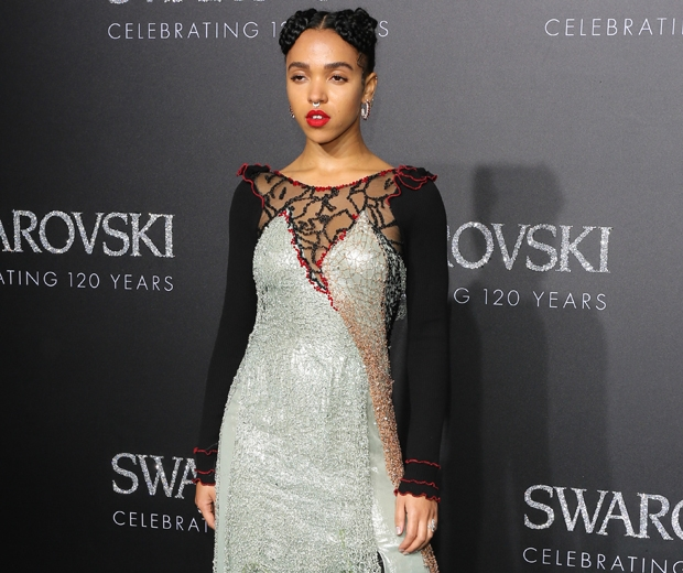 fka twigs engagement ring at swarovski crystal world event