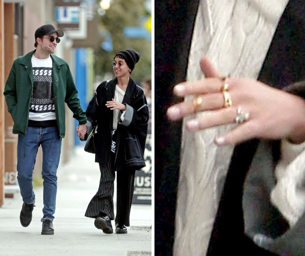 fka twigs and robert pattinson engagement ring in la