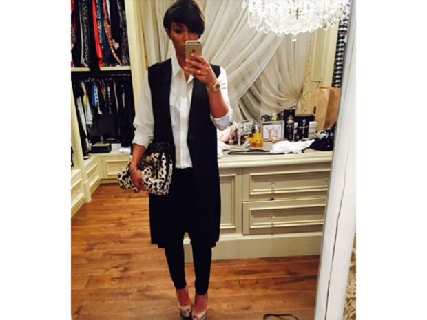 Frankie Bridge Opts For A Victoria Beckham-Inspired Look Recently