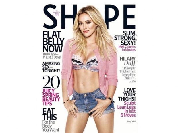 Hilary Duff proudly shared her Shape Magazine cover on Instagram