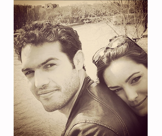Kelly Brook with her personal trainer boyfriend Jermey Parisi