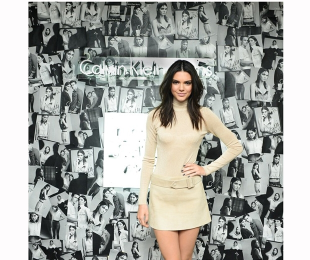 Kendall Jenner at the launch party of her Calvin Klein Jeans campaign in LA