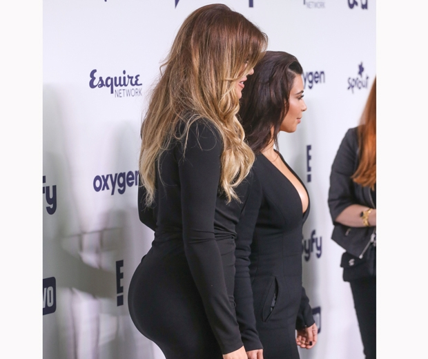 khloe kardashian bum in tight black dress