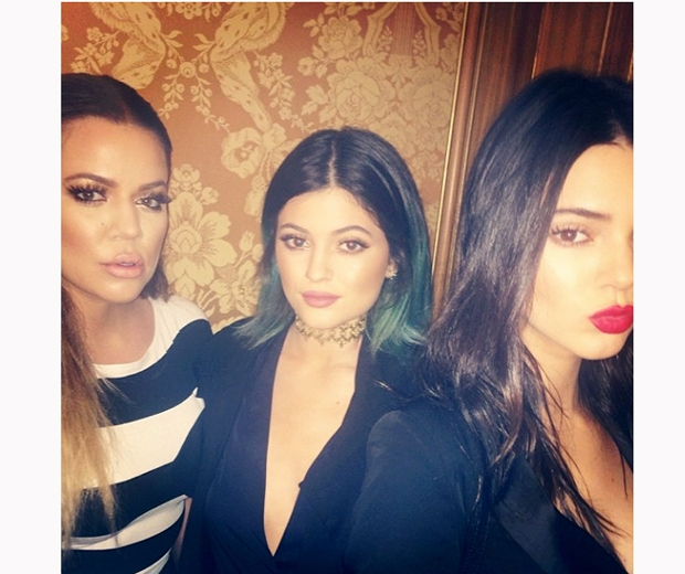 kylie and kendall jenner with khloe kardashian