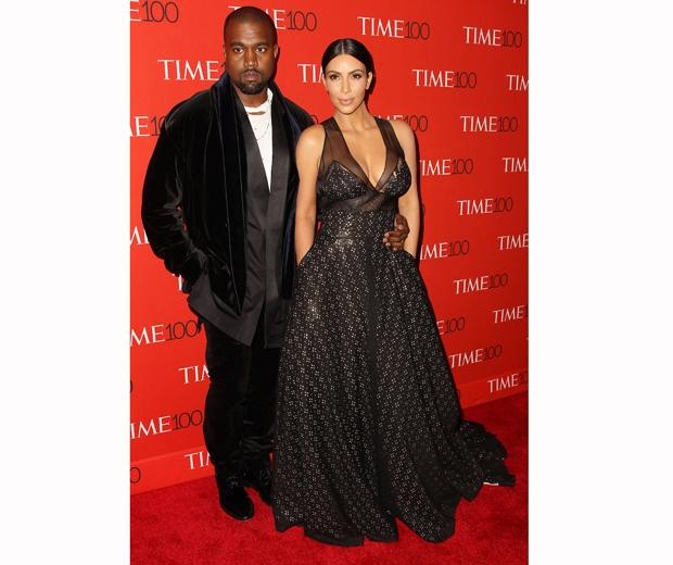 Kim Kardashian and Kanye West at the time 100 gala