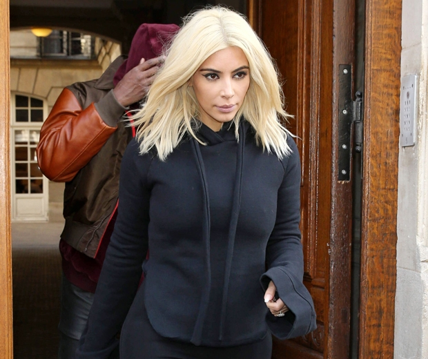 kim kardashian in givenchy leggings and Vehements hoodie