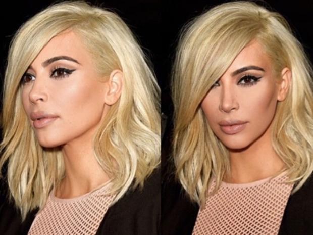Kim was previously sporting chopped blonde locks, debuted at Paris Fashion Week